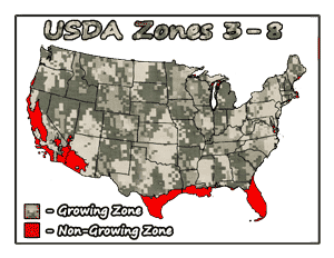 medicinal white oak trees USDA Growing Zones