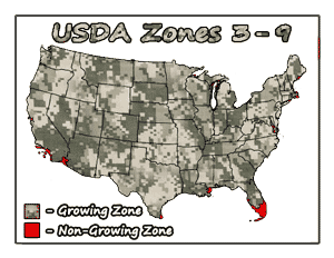 Mayhaw USDA Growing Zones