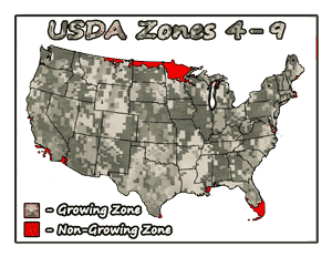 Wildlife Chestnut Tree USDA Growing Zones