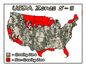 Northern Peach Tree Bundle USDA Growing Zones